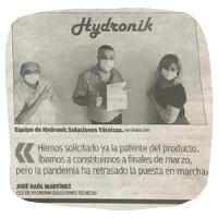El Diario Información entrevista a Hydronik con motivo del incremento del registro de empresas en Alicante durante la pandemia.