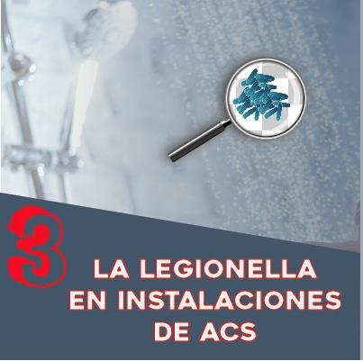 ¿Cómo controlar la proliferación de la legionella en mi instalación de ACS?