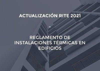 Nueva Actualización del RITE (Reglamento de Instalaciones Térmicas en Edificios) en 2021